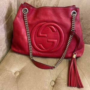⚠️ Red Gucci Medium Soho Bag Used and Dirty